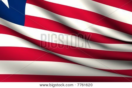 Flying Flag Of Liberia | All Countries Collection |