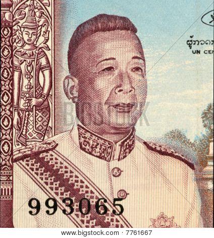 LAOS - CIRCA 1963: Savang Vatthana