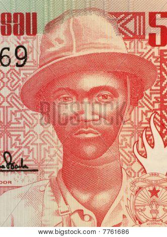 GUINEA BISSAU - CIRCA 1990: Pansau Na Isna