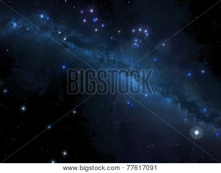 Stars background with Milky Way
