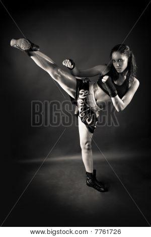 Beautiful Girl Kicking