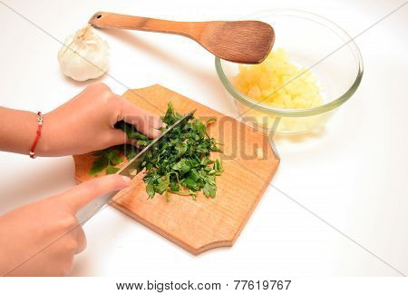 Cutting Parsley