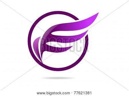 wing women logo symbol design vector