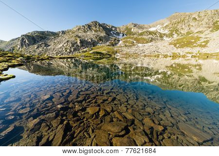 Transparent Alpine Lake
