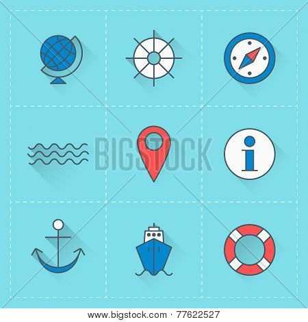 Travel Icons. Vector Icon Set In Flat Design Style. For Web Site Design And Mobile Appsvector Icon S