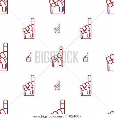 Vector background for fan finger glove