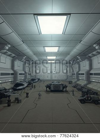 Space Station Hanger Deck
