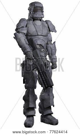 Future Space Marine in Urban Combat Armour
