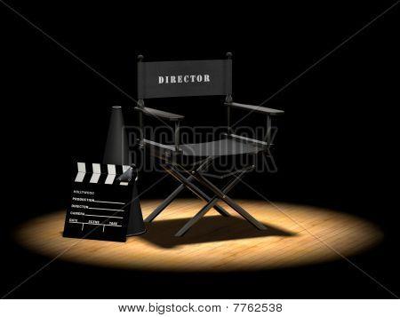 Director's Chair Under Spotlight