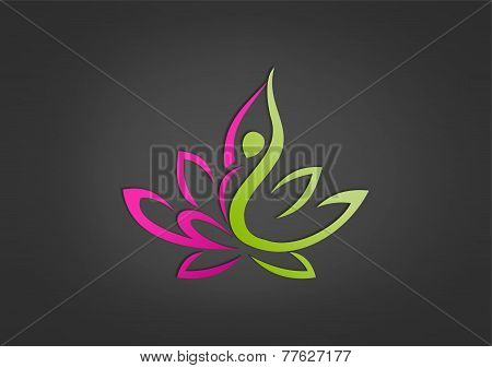 beatiful body lotus vector design