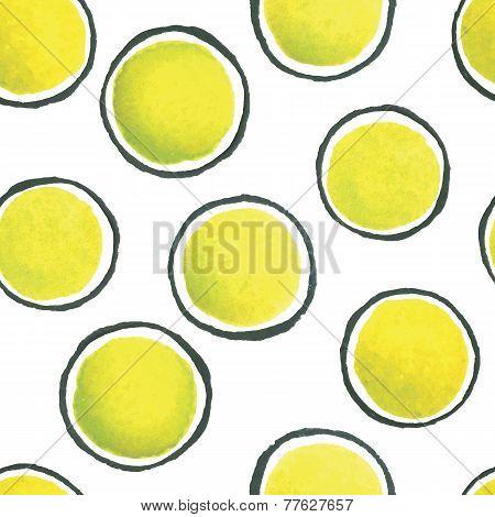 hand paint polka dot watercolor seamless pattern