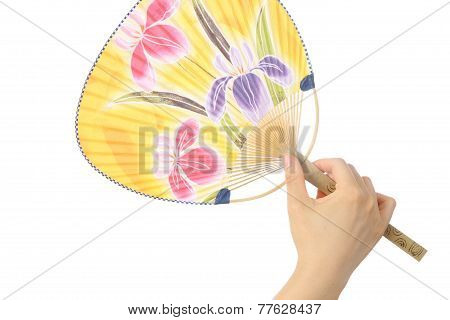 Japanese traditional paper fan UCHIWA