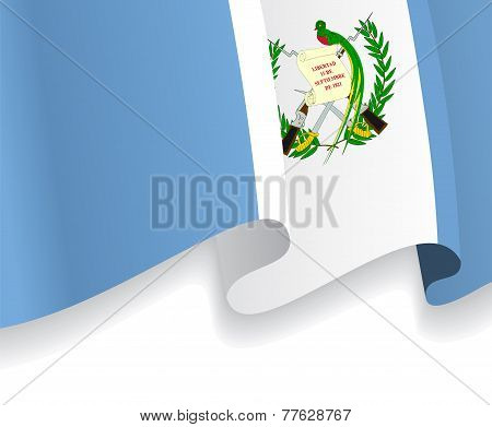 Background with waving Guatemala Flag. Vector
