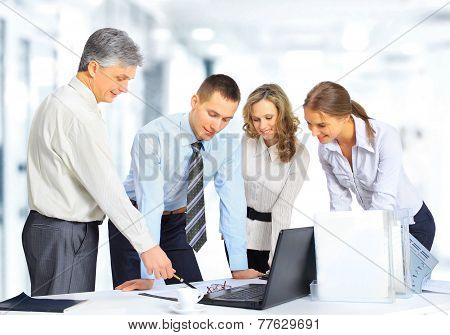 business team having meeting