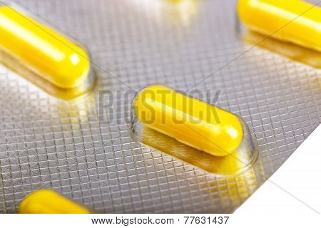 Medicine Capsules Packed In Blisters
