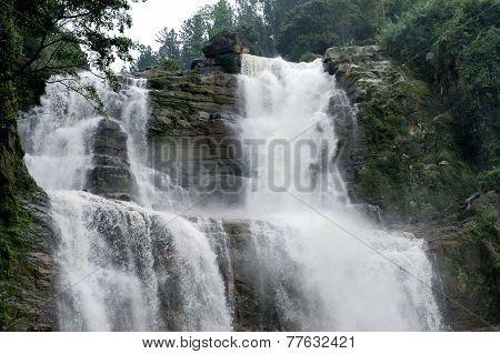 Ramboda Falls In Sri Lanka