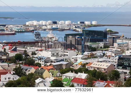 Downtown and port Of Reykjavik