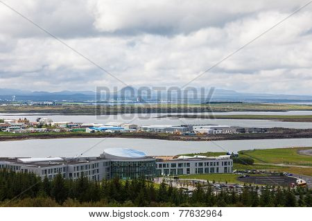 Top view of the Reykjavik area