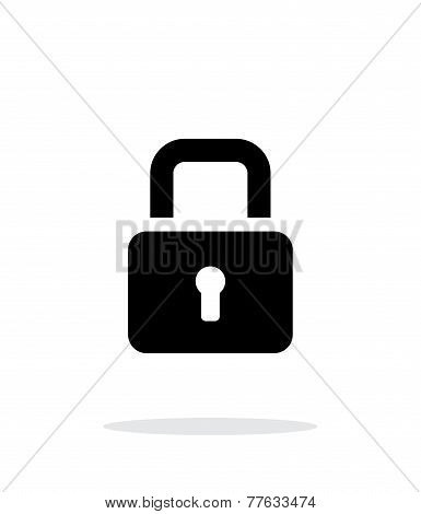 Padlock close icon on white background.