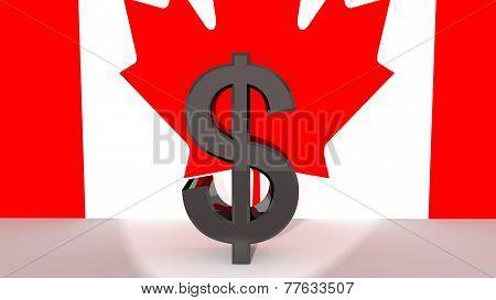 Canadian Dollar Symbol In Spotlight
