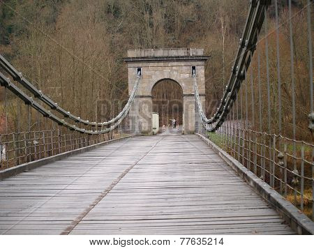 Unique Historical Empire Chain Bridge , South Bohemia