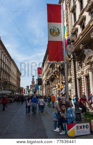 Flag Perù