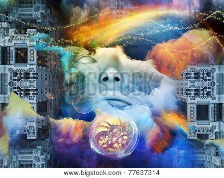 illustration of human fractal