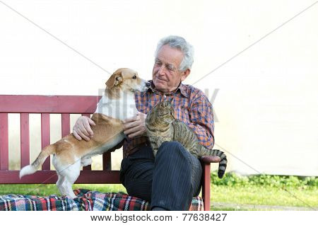 Man With Pets