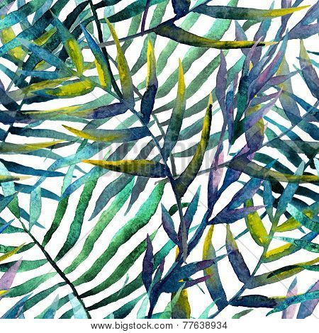 leaves abstract pattern background wallpaper watercolor