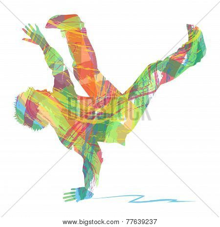 silhouette of dancer hip hop