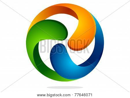 abstract circular business corporate vector  logo design