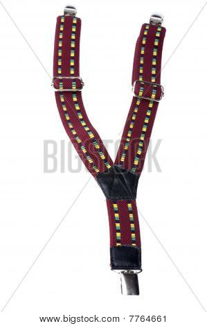 Suspenders Isolated On White