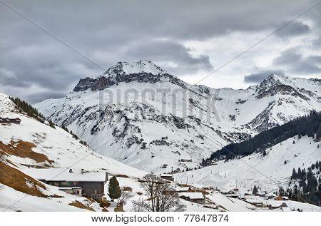 Schollberg (Scholl Mountain) in St. Antönien, Graubünden, Switzerland