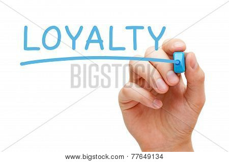 Loyalty Blue Marker