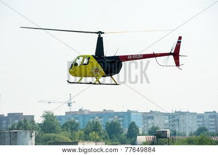 Pilot of Eurocopter AS-350 on airshow