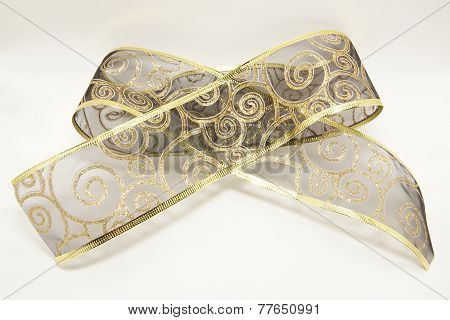 golden decorative christmas bow
