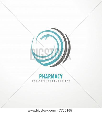 Vector pharmacy symbol concept