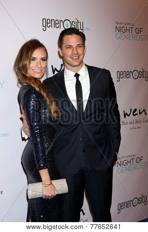 LOS ANGELES - DEC 5:  Angela Stacy Lanter, Matt Lanter at the 6th Annual Night Of Generosity at the Beverly Wilshire Hotel on December 5, 2014 in Beverly Hills, CA