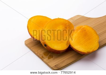 Mango Cut Into Three Equal Slices