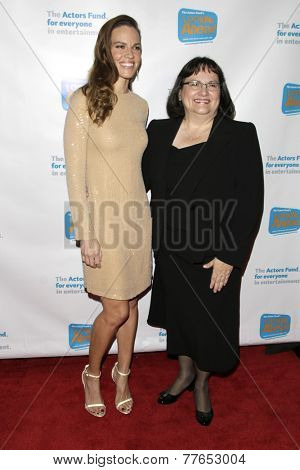 LOS ANGELES - DEC 4:  Hilary Swank, Judy Swank at the The Actors Fund�?�¢??s Looking Ahead Awards at the Taglyan Complex on December 4, 2014 in Los Angeles, CA