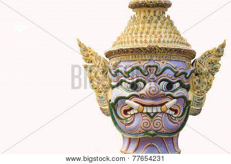 Giant on White Background Thai Art