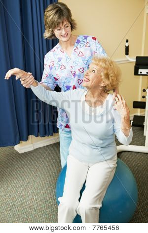 Physical Therapist Helps Senior Woman