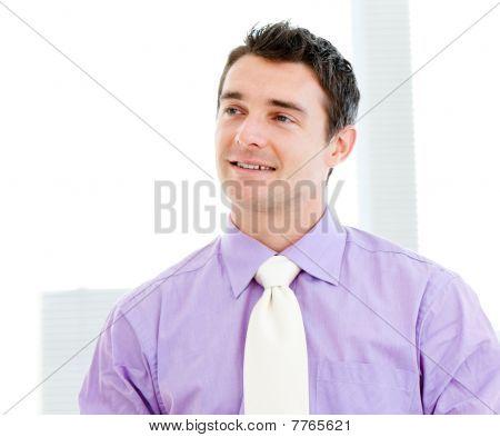 Self-assured Businessman Smiling