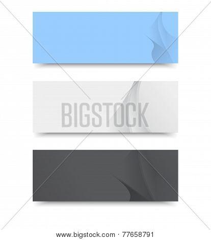Vector banner template.