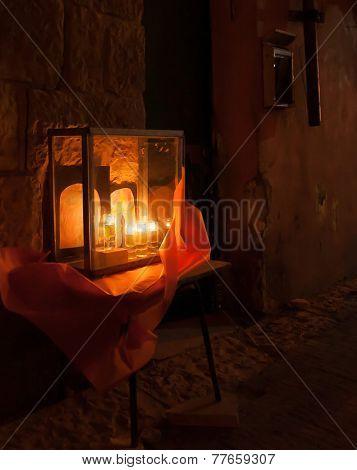 Chanuka Lights In Jerusalem
