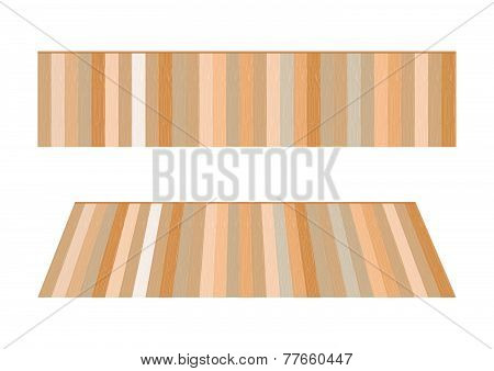 Wooden Floor. Vector Illustration