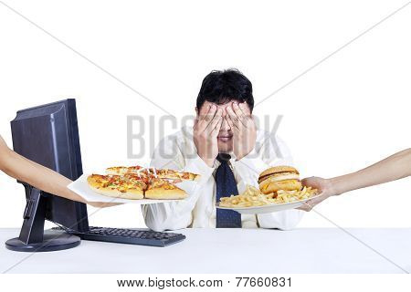 Businessperson Refuse Fast Food