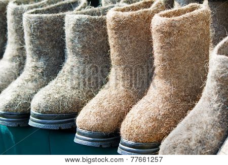 Warm Shoes Made Of Felt (felt Boots)