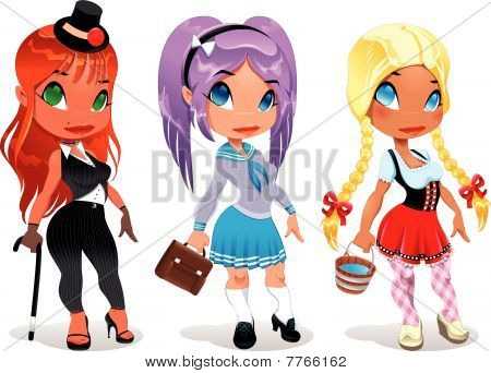 Tres tipos de damas