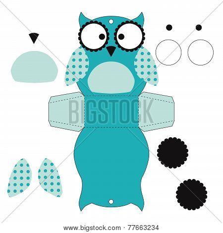 Cute Owl. Box